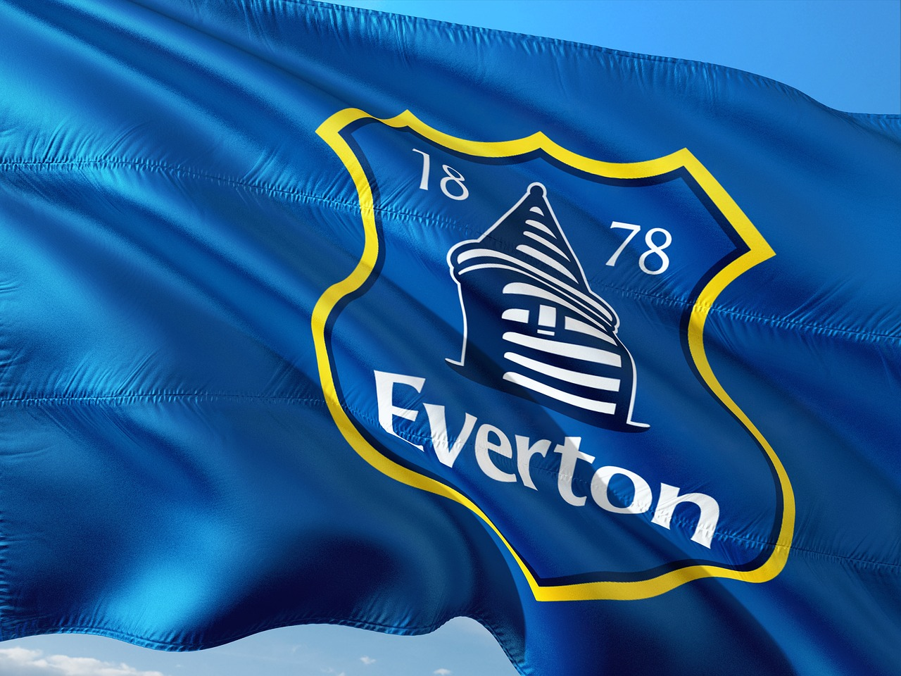 Everton FC - flag with logo