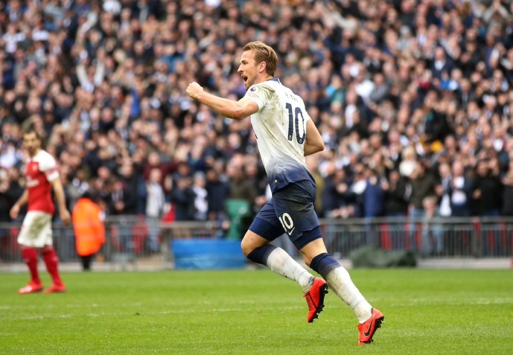 Harry Kane equalizes for Spurs in the North London derby