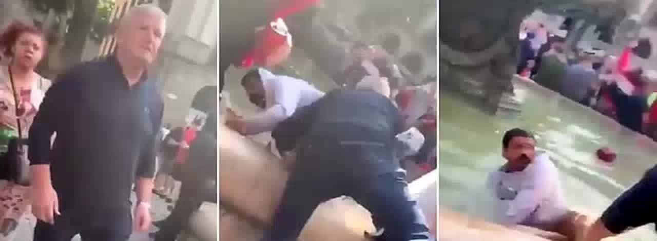 Liverpool fans violently throw locals into fountain, assault hotel employees in Barcelona