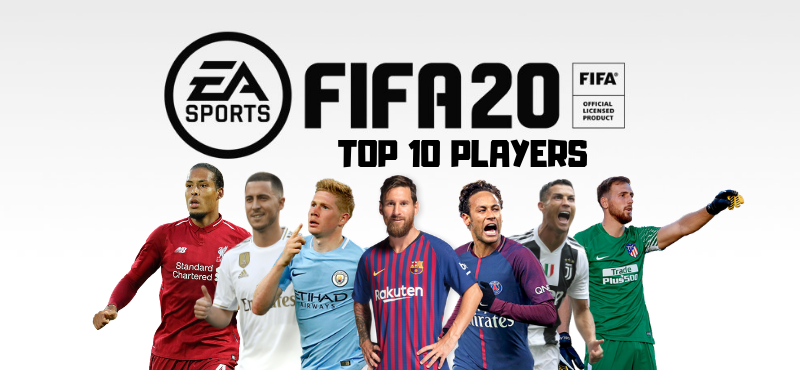 Top 10 Players in FIFA 20 - Messi, Ronaldo, Neymar, Hazard, De Bruyne, Salah