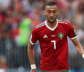 Hakim Ziyech playing for Morocco